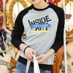 HANDA - Lettering Raglan Sleeve Pullover