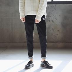 子俊 - 刺绣直筒牛仔裤