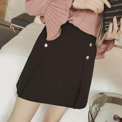 Diado - Buttoned A-Line Skirt