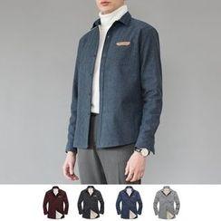 DANGOON - Pocket-Front Faux-Fur Lined Shirt