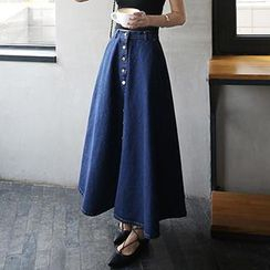Amella - Denim Maxi Skirt