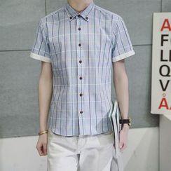 Alvicio - Window Pane Short Sleeve Shirt