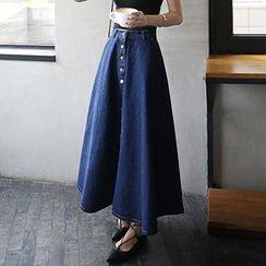 Amella - Denim Maxi Skirt