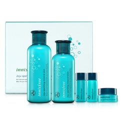 Innisfree - Jeju Sparkling Mineral Skin Care Set: Skin 200ml + Lotion 160ml + Skin 15ml + Lotion 15ml + Cream 10ml