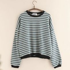 11.STREET - Striped Sweatshirt