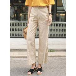BBAEBBAE - Wide-Leg Cotton Pants