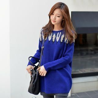 CLICK - Glitter Knit Long Sweater