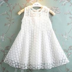 Kidora - 兒童無袖蕾絲 A 字連衣裙