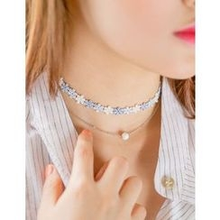 soo n soo - Knitted Choker Layered Necklace