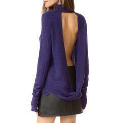 Obel - Plain Open Back Sweater