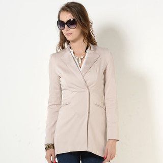 YesStyle Z - Snap-Button Long Blazer