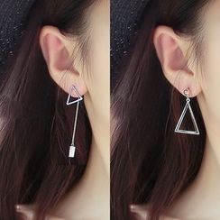 HEDGY - Triangle Non-Matching Earrings
