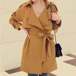 Ringnor - Tie-Waist Layered Trench Coat