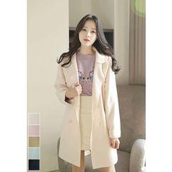 MyFiona - Wool Blend Dual-Breasted Coat