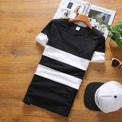 RIVOLO - Stripe Short-Sleeve T-Shirt