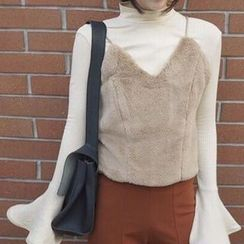 Rollis - Furry Cropped Camisole Top