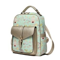 Princess Carousel - Print Faux Leather Backpack