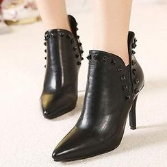Mancienne - Faux-Leather Studded Shoe Boots