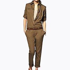 Obel - Long-Sleeve Slim Fit Jumpsuit