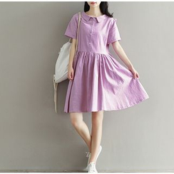 Clover Dream - Short-Sleeve A-Line Dress