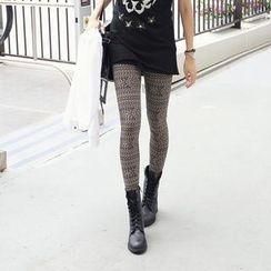 REDOPIN - Color-Block Print Leggings