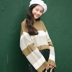 SUYISODA - Striped Oversized Sweater