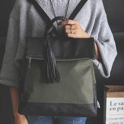 Youshine - Tasseled Panel Backpack
