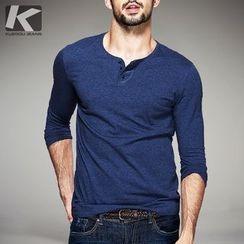 Quincy King - Long-Sleeve Plain T-Shirt