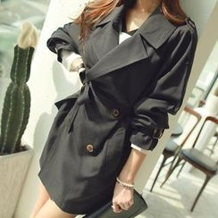 WITH IPUN - Trench Coat with Belt