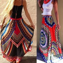 Hotprint - Patterned Maxi Skirt