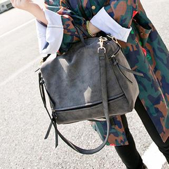 Miss Sweety - Washed-Out Faux Leather Carryall Bag