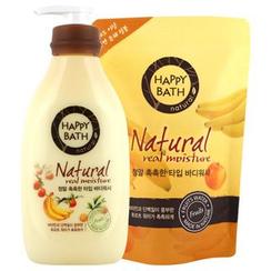 HAPPY BATH - Natural Real Moisture Set: Body Wash 500g + Refill 250g