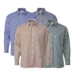 Seoul Homme - Striped Cotton Shirt (4 Colors)