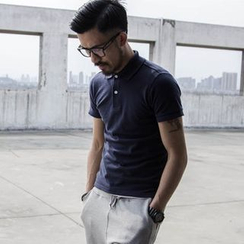YIDESIMPLE - Cotton Polo Shirt