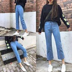 AMELA - 九分宽脚牛仔裤
