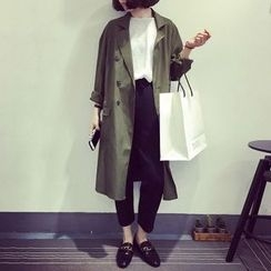 Glen Glam - Double Breasted Trench Jacket