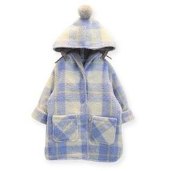 Rakkaus - Hooded Plaid Coat
