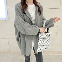 FR - Drop-Shoulder Zip Cardigan