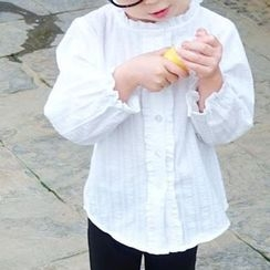 CUBS - Kids Frilled Collar Long-Sleeve Shirt