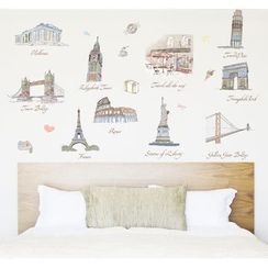 MOD HUT - World Map Wall Stickers