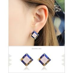 soo n soo - Square Stud Earring (Single)