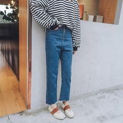 MISS RICE - 阔脚牛仔裤