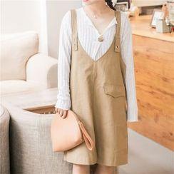 IndiGirl - Pocket-Accent Jumper Dress