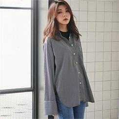 MAGJAY - Plain Pinstriped Shirt