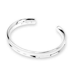 Bling Bling - Bling Bling Platinum Plated 925 Silver Bangle (60mm)