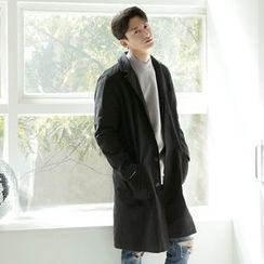 Seoul Homme - Single-Breast Trench Coat