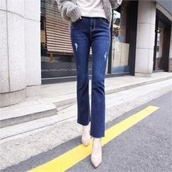 Styleberry - Distressed Boot-Cut Jeans