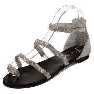 yeswalker - Rhinestone Toe Loop Sandals