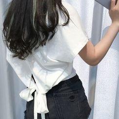 Anlay - V-Neck Plain Short-Sleeve T-Shirt