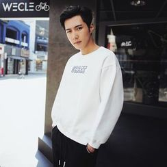 MEING - Lettering Zip-Accent Pullover